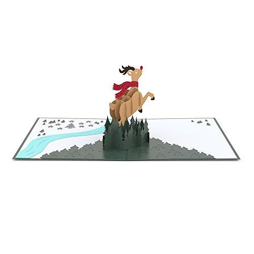 Lovepop Reindeer Pop Up Christmas Card