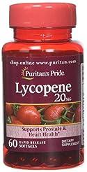 Puritans Pride Lycopene 20 Mg Softgels, ...