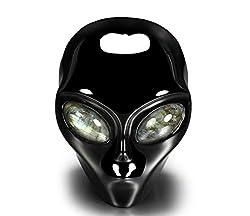 Black Obsidian Crystal Alien Skull