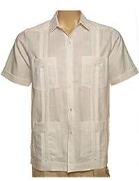 Guayabera 100% Linen Short Sleeve For Men Made In USA