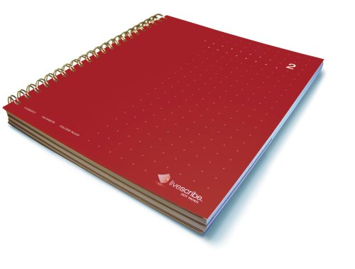 - Livescribe 8.5 x 11 3-Subject Notebook #2 (Red)