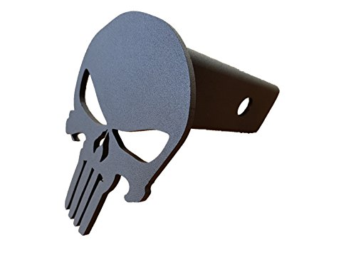 Punisher Trailer Hitch Cover - Steel & Powder Coated ()