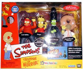Simpsons - World of Springfield Interactive Environment (Playset) - Treehouse of Horror 3 (THOH3) - Ironic Punishment w/4 exclusive figures including Donuthead Homer by Playmates -