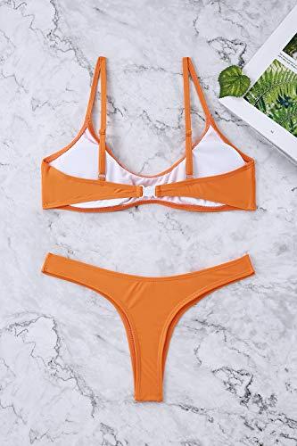 61a9d6bfc467f Women Bikini Sets Brazilian Padded Top Thong Cheeky Bikini Bottom 2PCs 2019  Swimsuit for Women