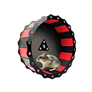"8"" Hamster Wheel Toy, Wooden Pet Exercise Running Wheel Toy - Silent Spinner for Rats Gerbil Hedgehog Chinchilla Guinea Pig Ferret Mice - Easy Attach to Wire Cage 2"