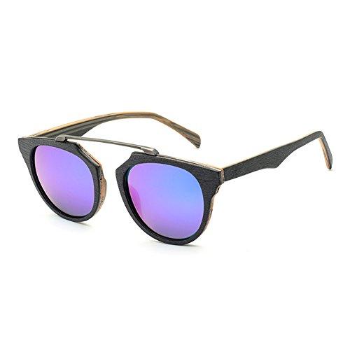SYIWONG Bamboo Wood Frame Polarized - Face Narrow Sunglasses Long For