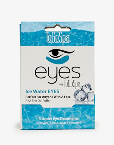 Ice Water EYES by ToGoSpa - Premium Anti-Aging Collagen Gel Pads for Puffiness, Dark Circles, and Wrinkles - Under Eye Rejuvenation for Men & Women - 1 Pack - 3 Pair