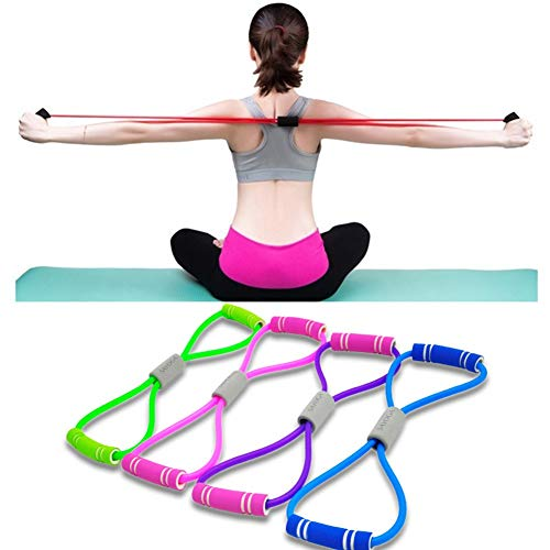 YATOO Set of 4 Fitness Bands, Elastic Band Chest Developer Rubber Loop Latex Resistance Exercise Bands,Perfect for Gym, Fitness, Yoga and Arms Pilates