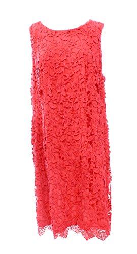 Lauren Ralph Lauren Plus Size Lace Bateau-Neck Sheath Dress Coral (24W)
