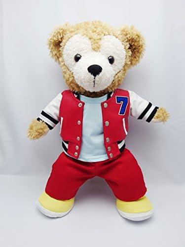Sサイズ(全長43cm) ダッフィー 衣装 赤 スタジアムジャンバー コスチューム  hdn01