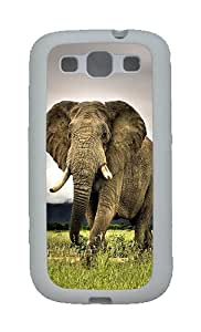 Galaxy S3 Cases, Cases For the Samsung Galaxy S3 Elephant TPU Case Cover for Samsung Galaxy S3 SIII White