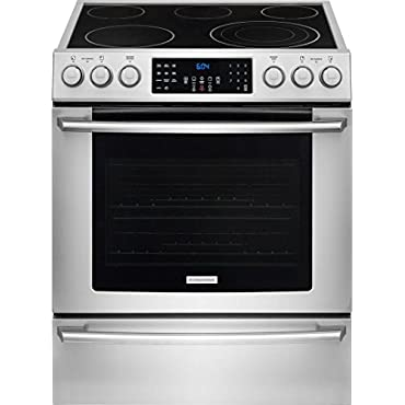 Electrolux EI30EF45QS IQ-Touch 30 Stainless Steel Electric Slide-In Smoothtop Range Convection