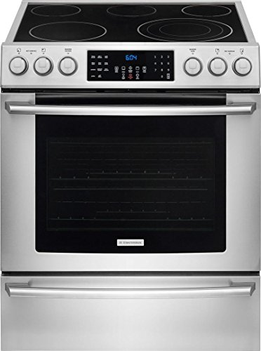 Electrolux EI30EF45QSIQ-Touch 30″ Stainless Steel Electric Slide-In Smoothtop Range – Convection