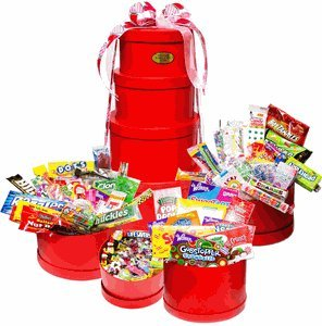 Red Mega Valentine Nostalgic Candy Gift Tower by Candy Crate