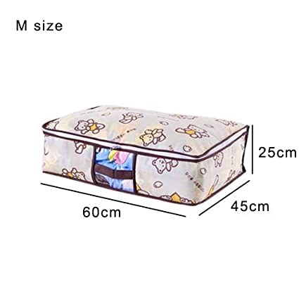 98a78febb552 Image Unavailable. Image not available for. Color  Autumn Water Portable  Clothes Storage Bag Wardrobe ...