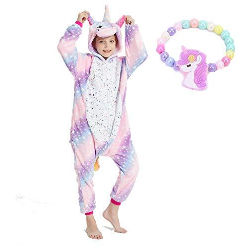 Eenhoorn onesies voor kinderen, uniseks, eendelige pyjama, cosplay kostuum, cadeau voor meisjes