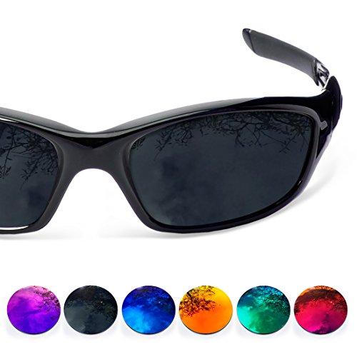 2 Sunglasses Lentes Oakley para Mirror Polarizadas 0 Recambio iridium Straight Jacket Restorer de Blue black Prqw1P