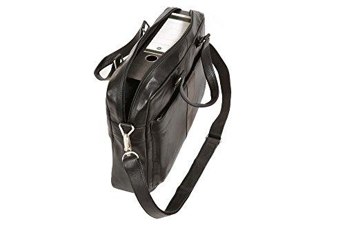 Bolsa de viaje maletín URBAN CONNECTION, Piel auténtica, negro