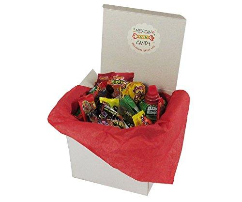 Mexican Spice Candy Box Assortment - Includes Pulparindo, Lucas, Lorena, De La Rosa, Vero, Indy Hormigas, Tama-Roca, Rockaleta, Zumba Goma, Anahuac Limon Hard Candy Mix by Ole Mission
