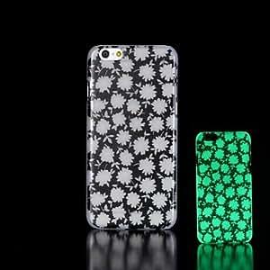ZMY flores patrón de incandescencia en el caso duro para el iphone oscuro 6 más