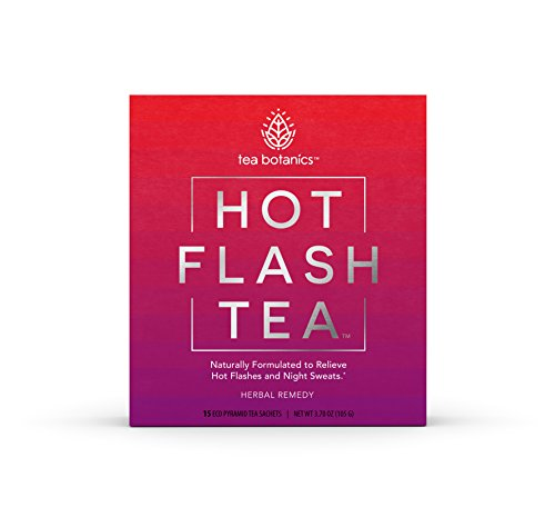 Hot Flash Tea - Fast-Acting, Organic, Menopause Relief for Hot Flashes, Night Sweats, Mood Swings, Stress - While Improving Sleep Quality, Concentration and Energy* (15 Day -