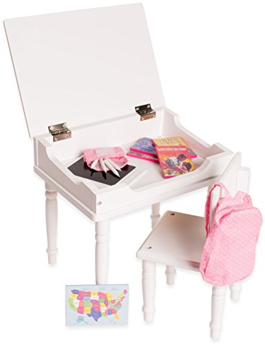 18 inch doll furniture desk and chair set classroom