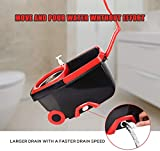 Jar-Owl Spin Mop Bucket Floor Cleaning System with