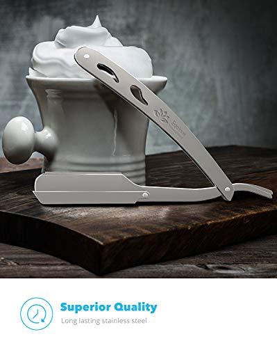 Equinox Professional Straight Edge Razor with 100 Single Edge Derby Blades  Close Shaving Men Manual