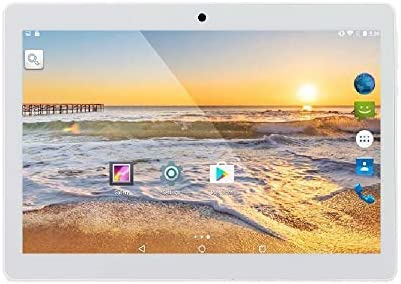 ibowin® 10.1 Pollici 1280×800 IPS Tablet PC 1G RAM 16G ROM Android 7.0OS Quad core AGPS WIFI 3G Cellulare 2SIM Card – Argento