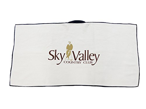 NEW Devant Sky Valley Country Club Tan/Brown Golf Towel (Valley Country Club)