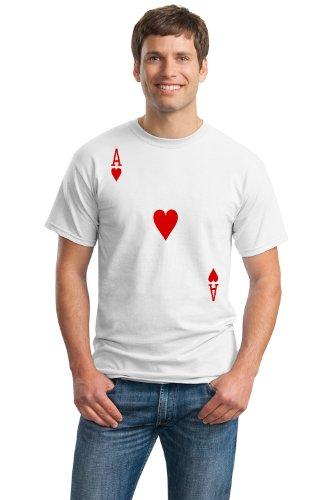 ACE OF HEARTS Unisex T-shirt / Card Costume Tee, Magic Trick Tee