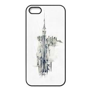 iPhone 5,5S Cases metro, iPhone 5,5S casos 52, [negro]