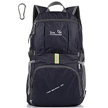 LARGE! 35L! Outlander Packable Handy Lightweight Travel Backpack Daypack+Lifetime Warranty (New Black)