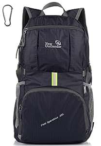Outlander Packable Lightweight Travel Hiking Backpack Daypack (New Black)