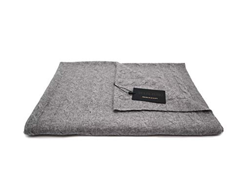 State Fusio Wool Cashmere Classic Cable Knit Travel Blanket ()