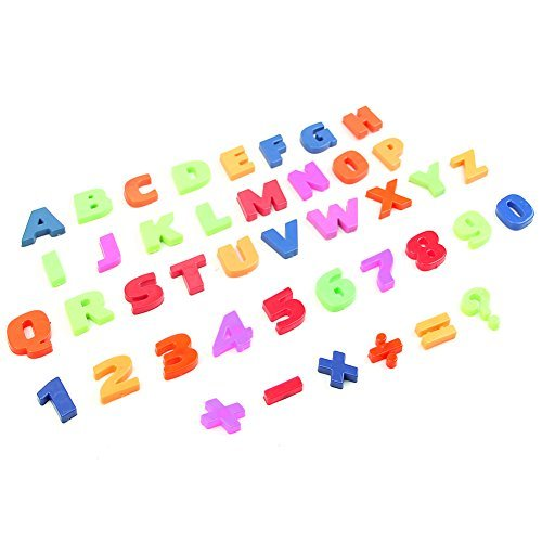 YSTD® 52pcs Colorful Letters and Numbers Teaching Magnetic Fridge Magnets Alphabet (Plastic Refrigerator Magnets)
