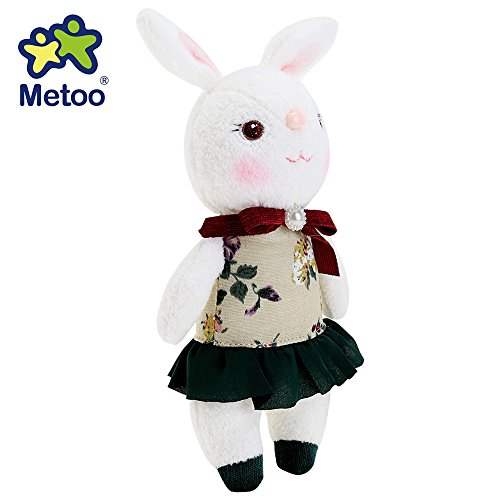 [Metoo Tiramitu Stuffed Cute Soft Bunny Plush Rabbit Doll Toy for Kids Children's Day Birthday Valentines Christmas] (White Rabbit Dance Costumes)