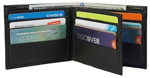 Bullz Men's Genuine Cow Leather Bifold Wallets Center Flap Slim Id Wallet, Pass Case ()