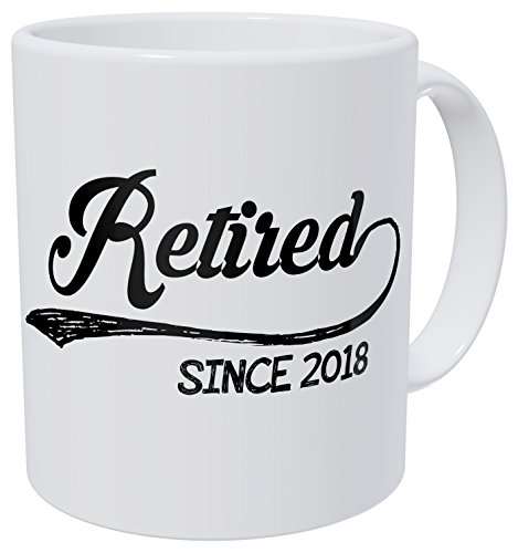 Coffee Retirement (Wampumtuk Retired Since 2018 11 Ounces Funny Coffee Mug)