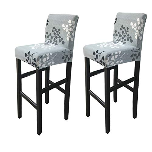 Deisy Dee Stretch Slipcovers Chair Cover for Counter Height Side Chairs Covers Stretch Protectors Pack of 2 C172 (JJ)