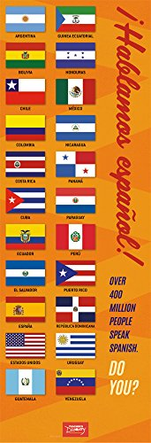 We Speak Spanish Flags Skinny Poster]()