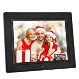 Crosstour Digital Photo Frame 8 Inch Black Video, Photo & Business Menu, 4:3 Wide Screen Wall Mounted Desk Picture Frame Remote Control, Best Gift Your Christmas