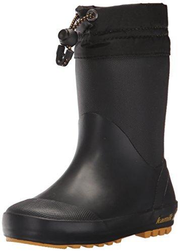 Kamik Drizzly Snow Boot, Black, 12 Medium US Little Kid