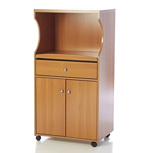 microwave cart cherry wood - 7