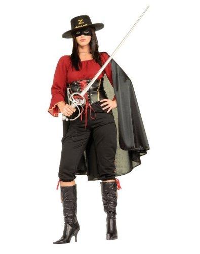 Female Super Deluxe Zorro Costume - Womens (Zorro Costume Ladies)