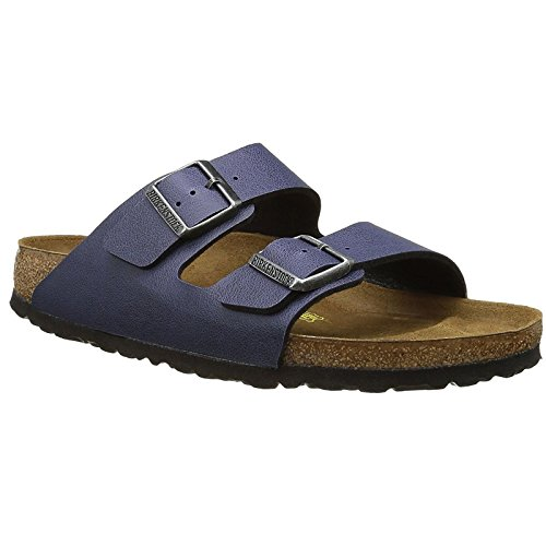 Birkenstock Womens Arizona Birko-Flor Sandals Pull Up Navy