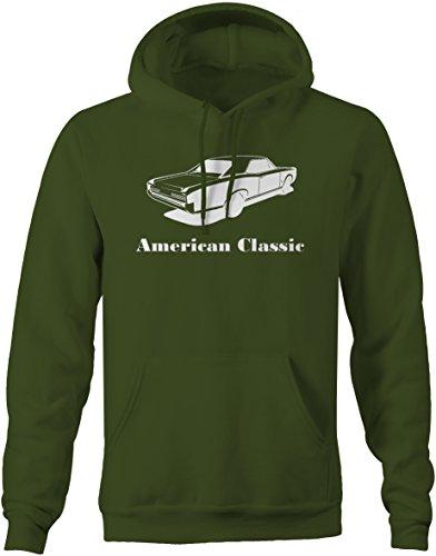 American Classic Pontiac GTO Goat Muscle Car Classic Sweatshirt - 2XL (Green Pontiac Gto)
