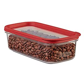 Rubbermaid 1840748 10-Cup Modular Dry Food Storage Zylar Container 7 Modular design saves space and keeps pantries organized Crystal clear bases made from Zylar material Lid windows allow for easy identification of contents