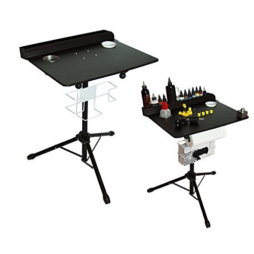 Large Portable Tattoo workstation Adjustable Height stand Salon Instrument Tattoo Table
