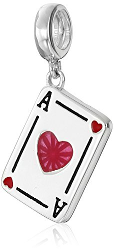 Chamilia Sterling Silver Ace of Hearts Bead Charm